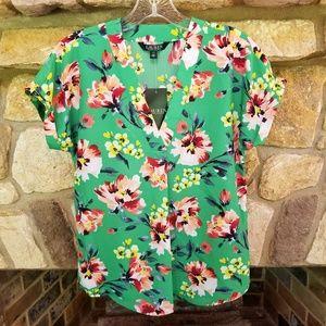 Lauren by Ralph Lauren Floral Shirt XS Extra Small